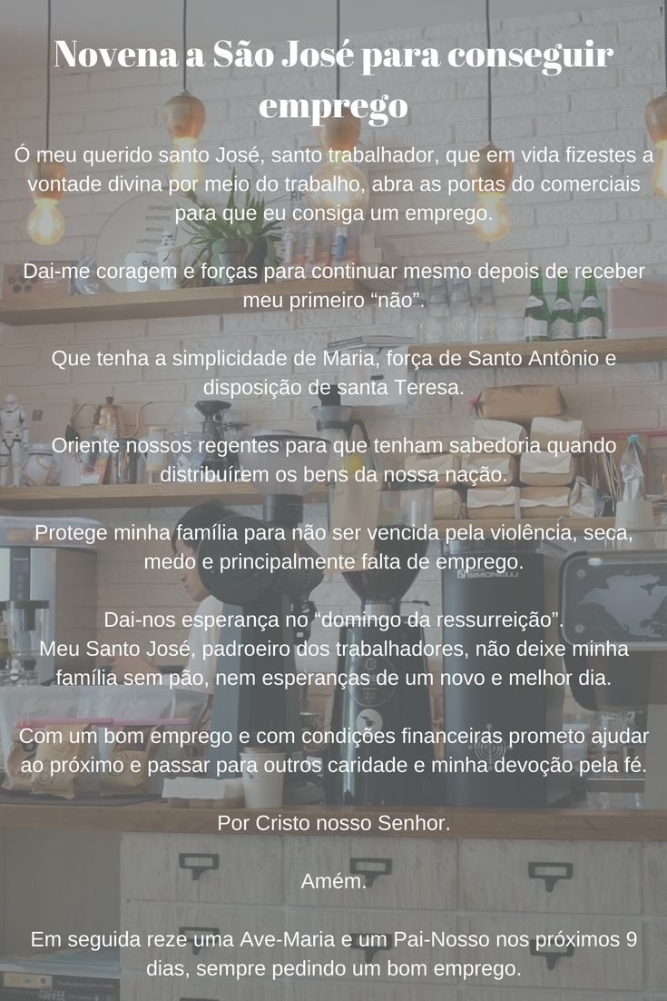 Novena a São José para conseguir emprego  #novena #oração