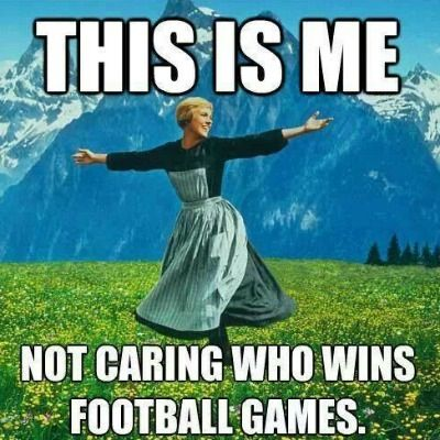 Image result for not a football fan meme