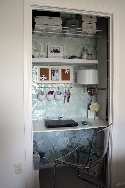 bedroom office--the light saves desk space.  FYI:  I would add a curtain with tie backs.  We did this and loved it.