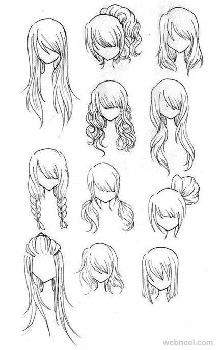 draw anime hair