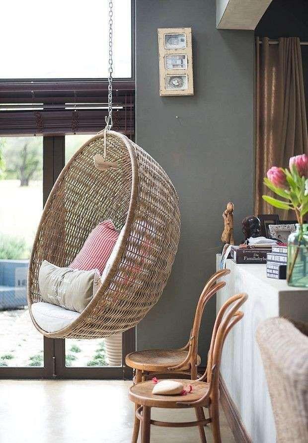 Seduta per Cuscino da Giardino con Sedia a Dondolo da Giardino con Due Cuscini lahomie Sedia Sospesa da Gardino ad Altalena