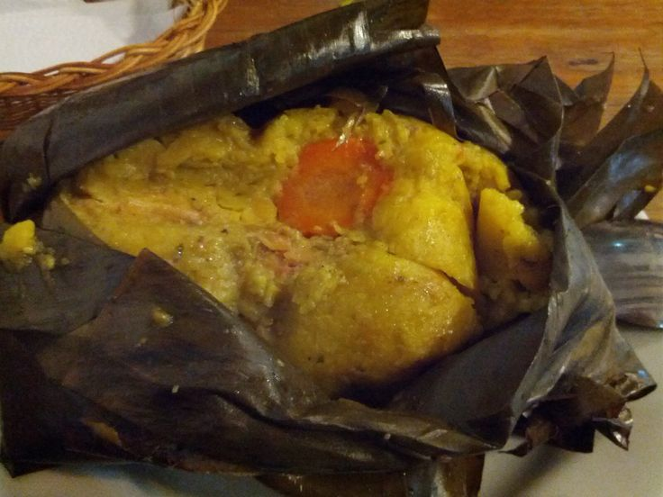 Delicioso tamal colombiano
