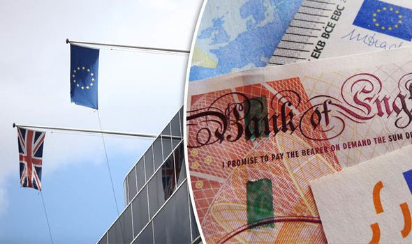 Pound V euro: GBP exchange rate strikes two-week high amid Brexit bill