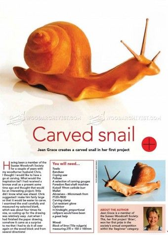 #76 Carving Snail - Wood Carving Patterns - Wood Carving Patterns and Techniques
