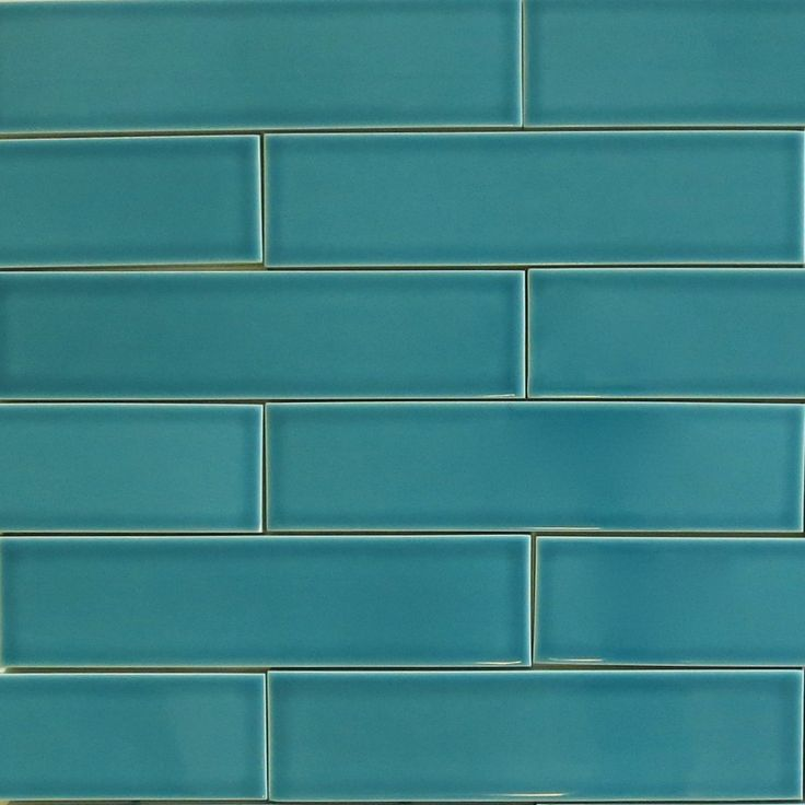 "Clayhaus 2x8 Teal Agate - Blue Green Ceramic Tile - Our 2x8 ceramic subway tile color ""Teal Agate"" is a tropical teal blue color. There are 9 tiles per square foot of material and they are shipped loose for easy installation. This tile is well suited as kitchen backsplash tile, bathroom tile or as any indoor wall tile. All Clayhaus for modwalls subway tiles are handcrafted in the USA."