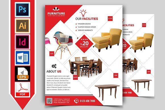 furniture shop flyer template vol