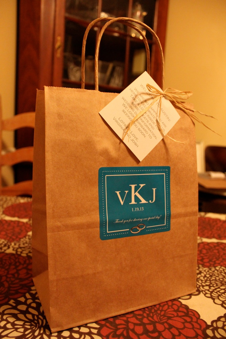Wedding Favor Bags For Out Of Town Guests : ... Wedding Welcome Bags Out Of Town Guest Bags Wedding Rings. Wedding
