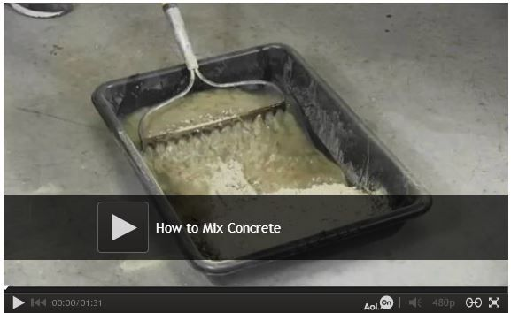 Video: How to Properly Mix Concrete - Learn how to mix concrete so you get the right strength and consistency every time. Watch: http://www.familyhandyman.com/masonry/pouring-concrete/how-to-properly-mix-concrete/view-all