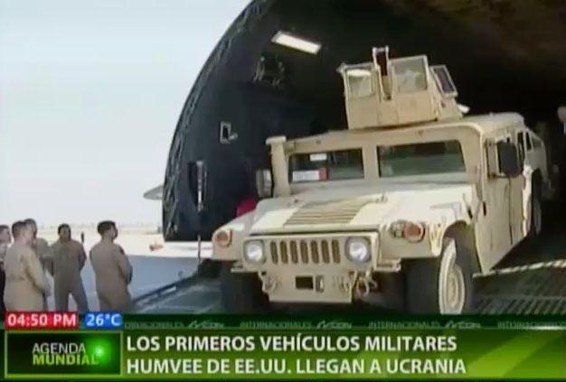 Los Primeros Vehículos Militares De EEUU Llegan A Ucrania #Video