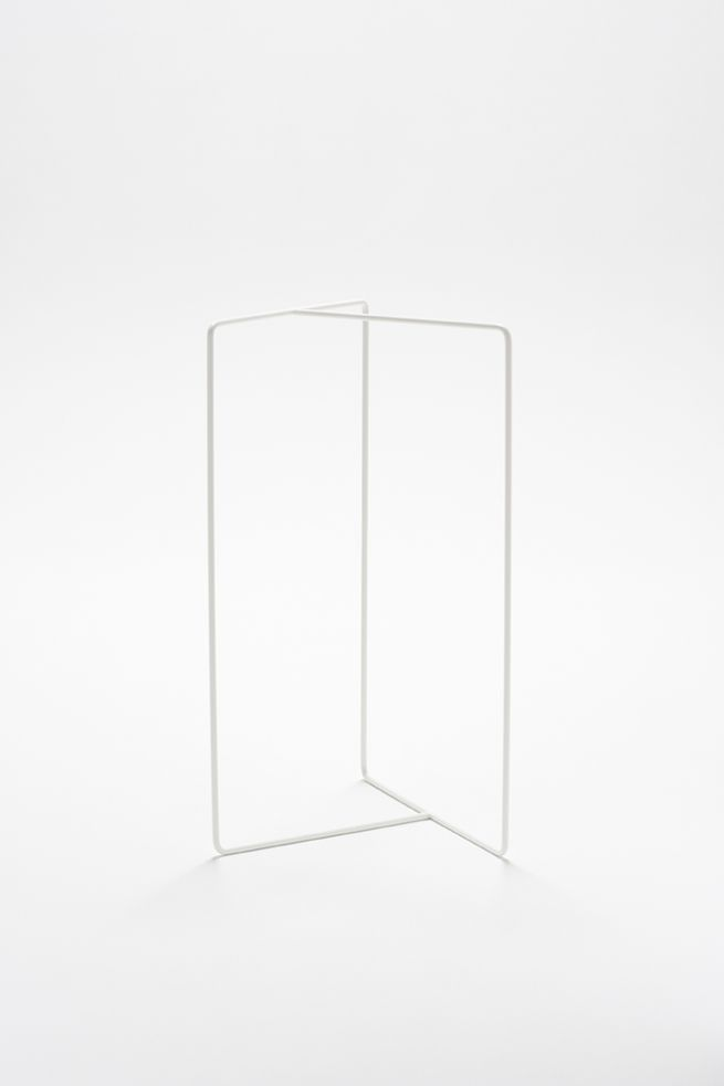 Nendo; Enameled Metal 'Shortcut' Towel/Coat Rack, 2009.