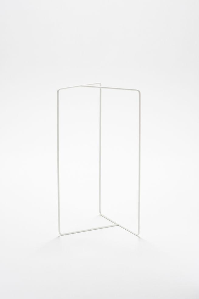 Nendo; Enameled Metal 'Shortcut' Towel/Coat Rack, 2009.