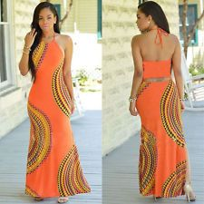 Womens Sleeveless Party Dress Vintage Casual Long Dress Summer Beach Maxi Dress #dresses #fashion #style #women #trend