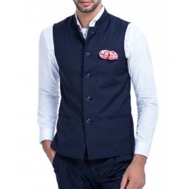 Blue Formal Nehru Jacket