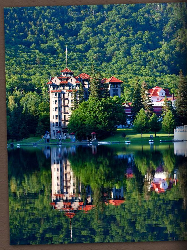 The Balsams in Dixville Notch, NH. Love, love, love. Under brand new ownership and currently closed for renovations. Which means it's exactly like The Shining up there right now.
