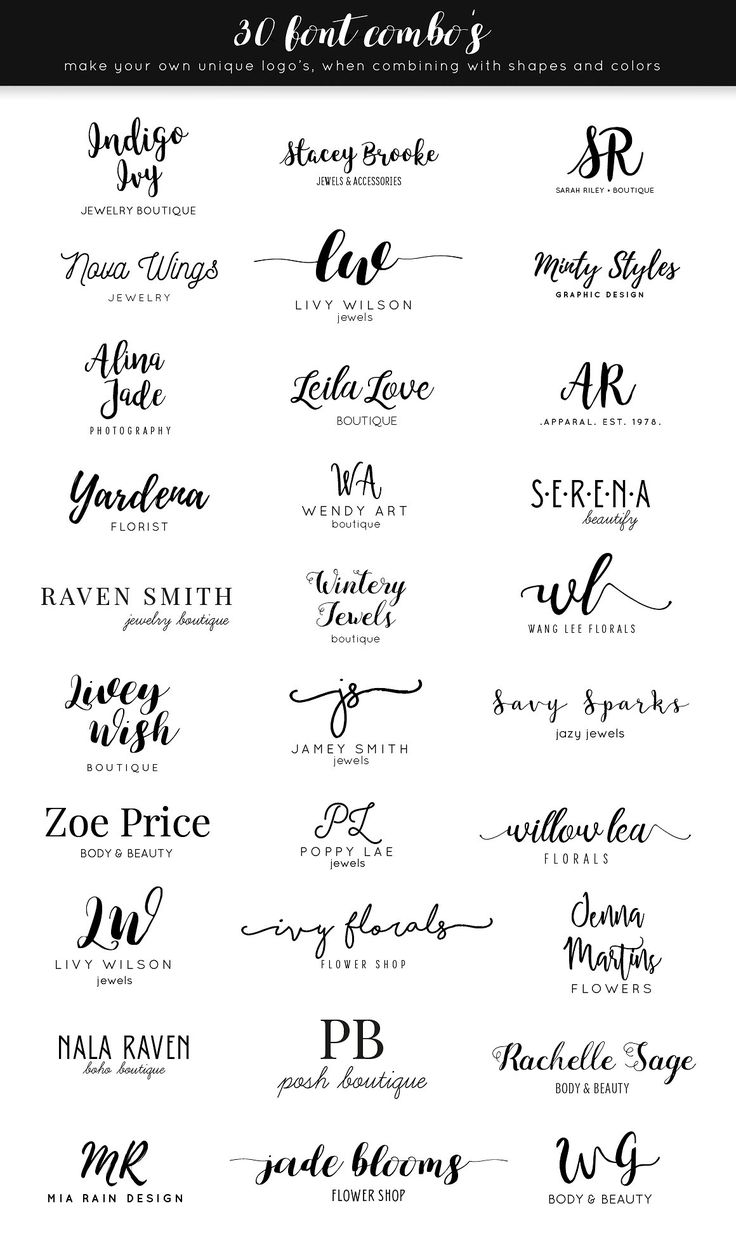 Stylish Logo Creator Kit AI + PS by Skyla Design …