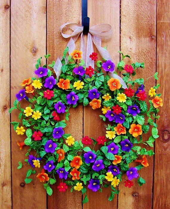 XL 23 Spring WreathSpring Door WreathSpring by DesigningCreations, $85.00