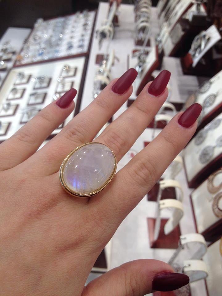 Moonstone :) #gold #ring #moonstone #silver