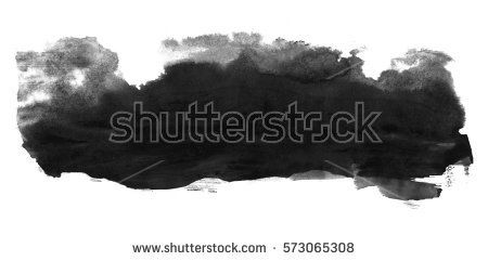 Abstract ink background. Marble style. Black paint stroke texture on white paper. Wallpaper for web and game design. Grunge mud art. Macro image of pen juice. Dark Smear.