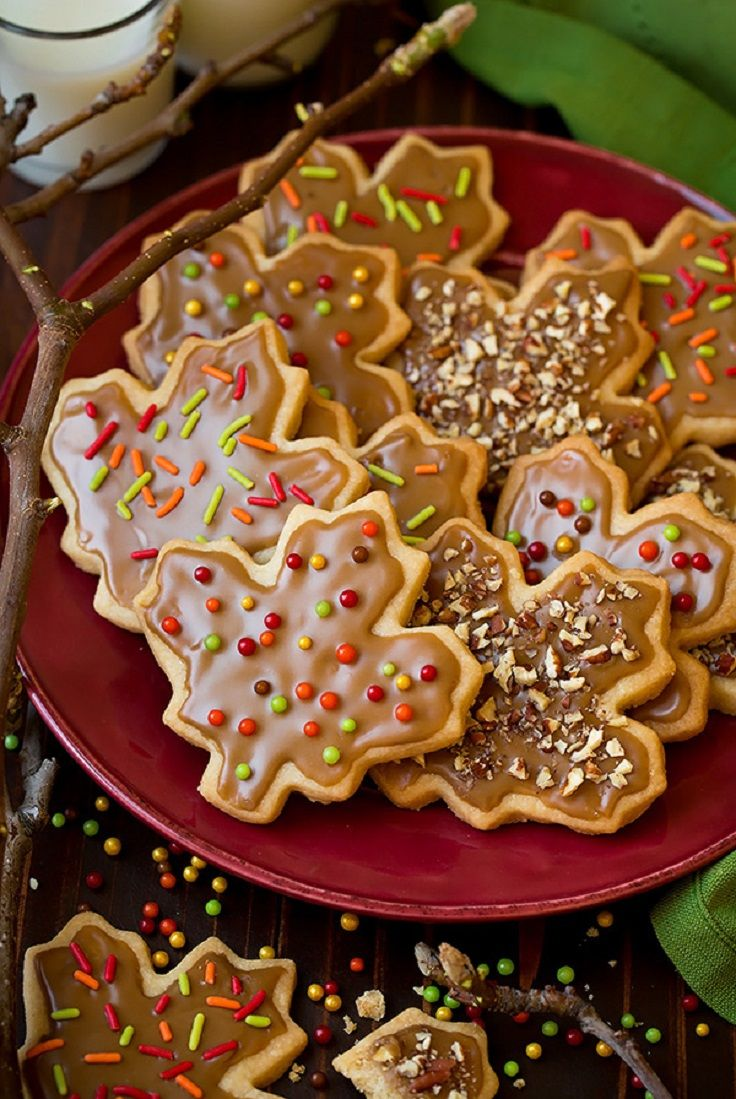 Glazed Maple Shortbread Cookies - Thanksgiving Food List: 15 Creative Food Ideas for A Fabulous Thanksgiving Feast