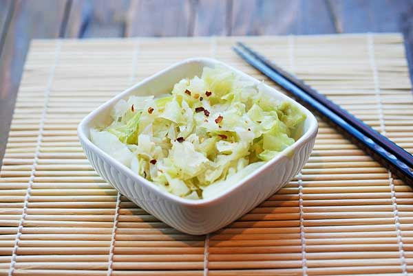 It may not look like much, but this simple steamed cabbage, enhanced with butter and garlic, is a delicacy.