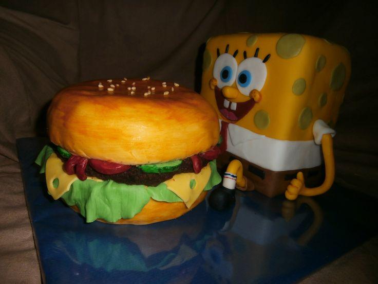 Spongybob a hamburgr