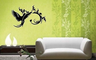 Wall Stickers Vinyl Decal Bird Branch Plant Great Decor Living Room (ig1037)