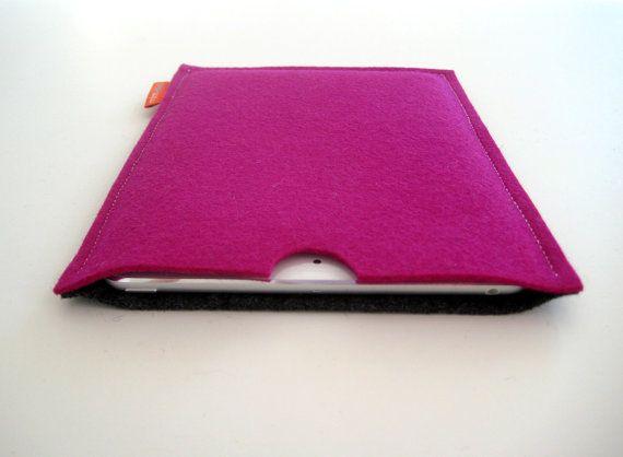 iPad Mini case. pure wool felt. computer accessory. by mlmxoxo