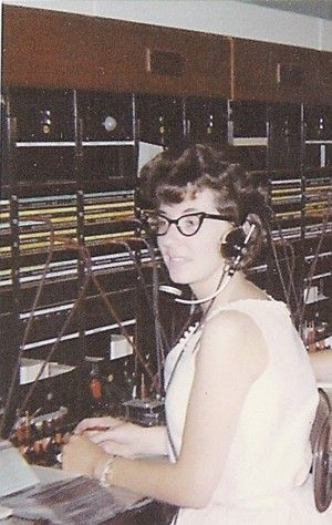 Pacific Northwest Bell switchboard in the 1960s, which is where I worked. Unit 3 in downtown Seattle. But this isn't me.