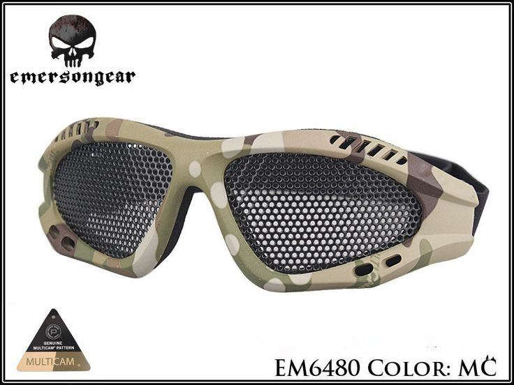 Emerson Tactical Goggles Outdoor Eye Protector With Metal Mesh for CS Game Airsoft Hunting Light-Weight Safety Glasses Eyewear