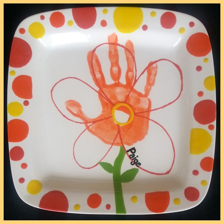 404 best images about hand and footprint ideas on pinterest for Handprint ceramic plate ideas
