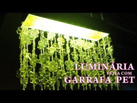 Luminária com Garrafa Pet - Passo a passo - YouTube
