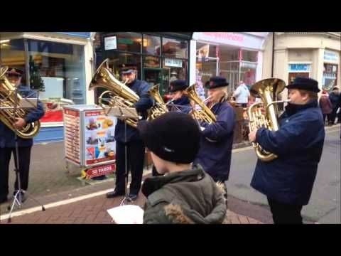 Salvation Army Band Christmas Carols - Silent Night. I miss hearing this in our now run down town