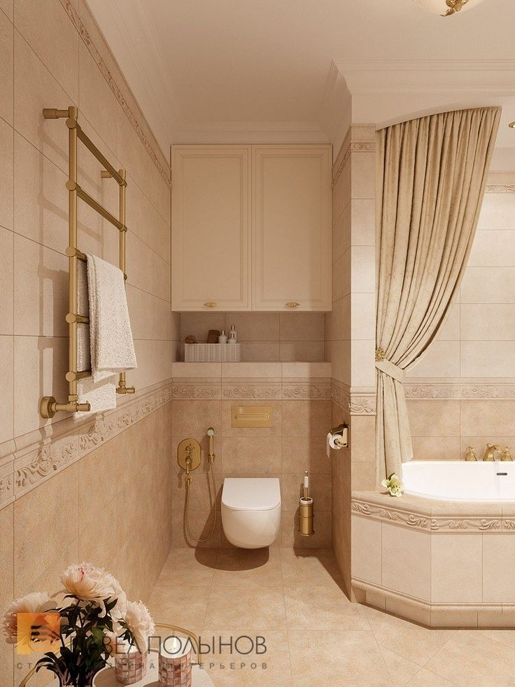 Фото: Ванная комната - Квартира в классическом стиле, ЖК «Привилегия», 135 кв.м.