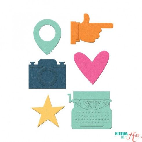 Troquel Icons - Albums Made Easy Lifestyle para Sizzix