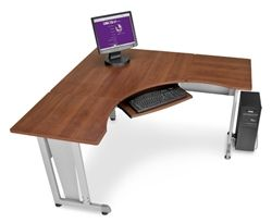 OFM 55196 Corner Computer Desk With Keyboard Slide   #CornerDesks