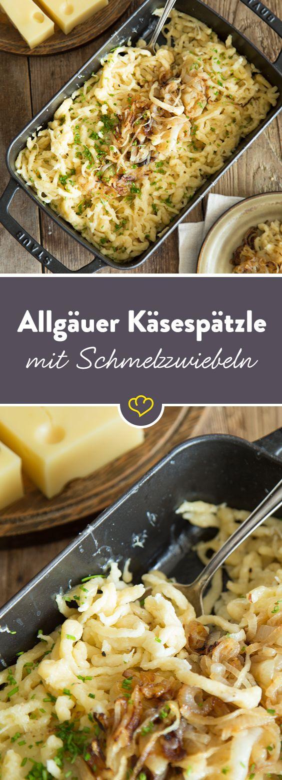 Allgäuer Käsespätzle mit Schmelzzwiebeln – Heute gibt's was Deftiges