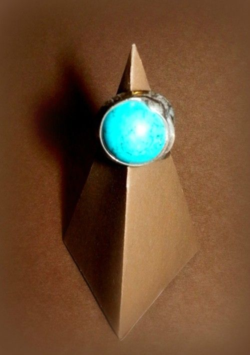 http://megasilver.pl/Pierscionek-p301 #ring #metalwork #handmade #blue #turquoise #stone #jewelry #jewellery