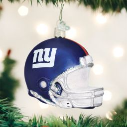 Old World Christmas®️️ New York Giants NFL Football Helmet Glass Ornament direct from the ChristmasOrnamentStore.com