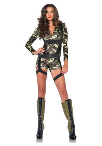 Sometimes she doesn't like to wear anything under her uniform! This Goin Commando Adult Costume is perfect for naughty soldiers.