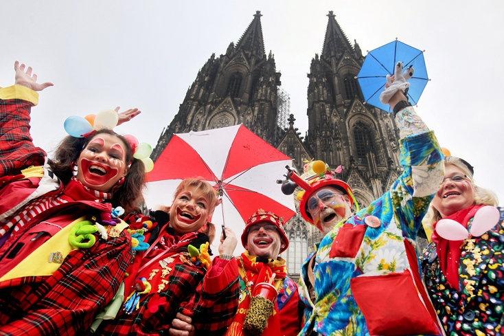 Carnaval en Colonia , Karneval in Köln, Kölner Dom und Lappenclowns, #koeln  www.marioschumacher.com  #karneval #carnaval