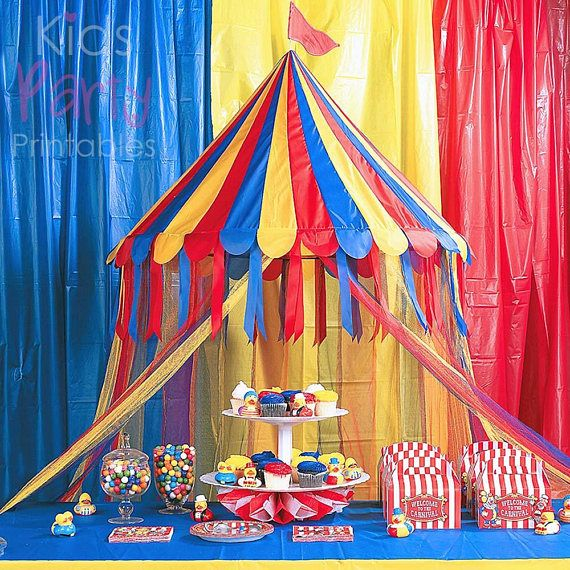 Carnival Party Decorations Big Top Circus Tent Canopy ...