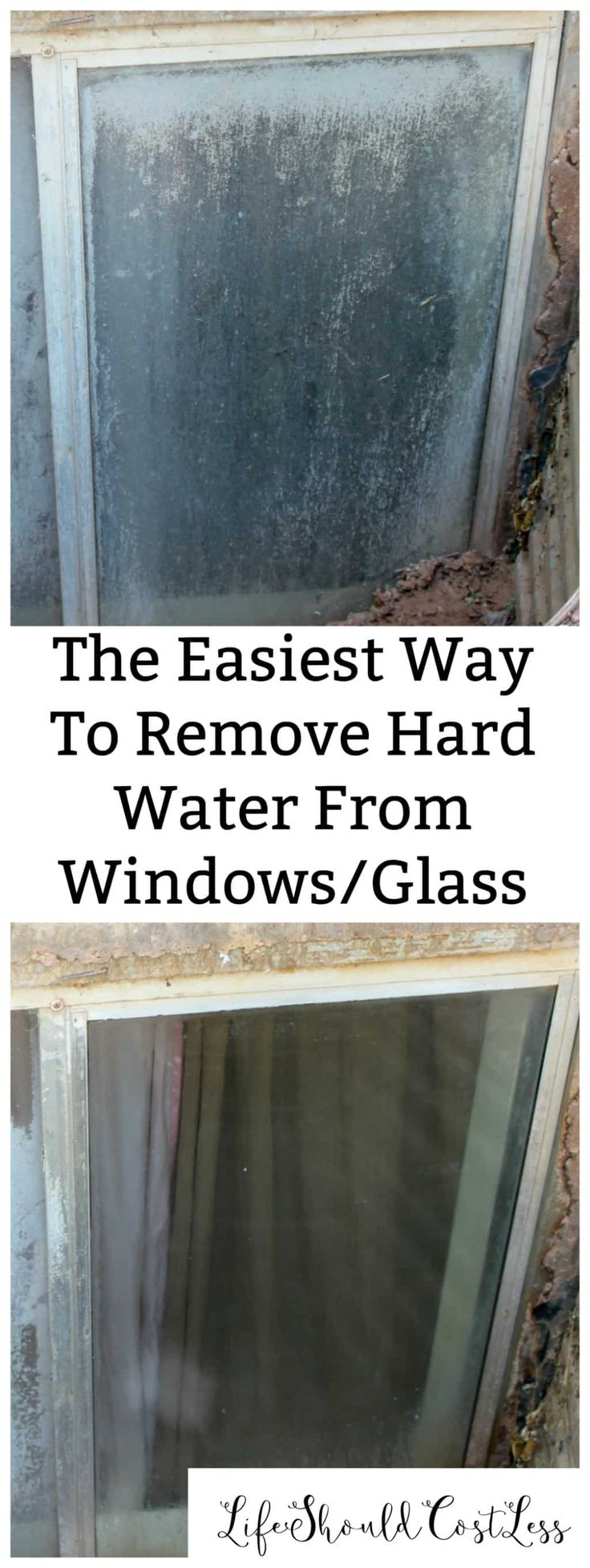 The Easiest Way To Remove Hard Water From Windows/Glass