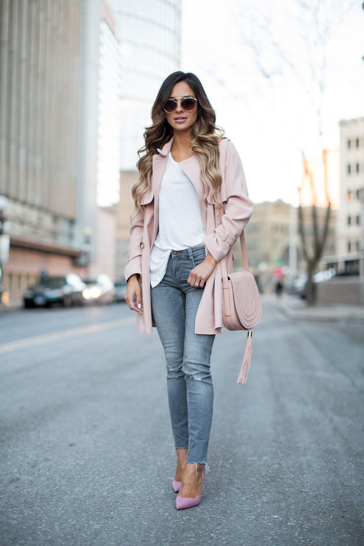 Topshop Pink Trench Coat // Zara Gray Jeans (similar here) // Free People Sunglasses (great Prada dupe at just $20!) // Christian Louboutin 'So Kate' Heels (more colors here) // Vince Camuto Pink Crossbody Bag Another blush favorite today. Can you ever get enough of this color? I can't. This trench coat is one you can …