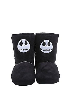 It can get chilly in Halloween Town // The Nightmare Before Christmas Jack Head Slipper Boots