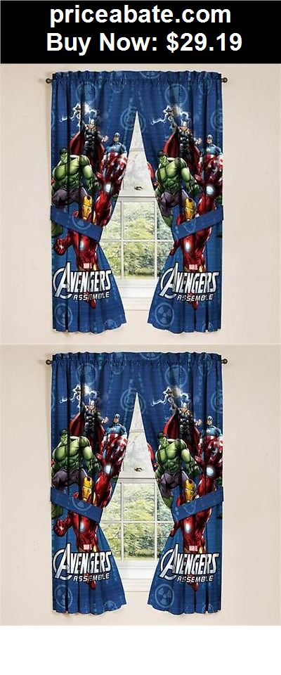 Kids-at-Home: Marvel Avengers Set Of 2 Window Panels Curtains Kids Bedroom Decor Boys Room NEW - BUY IT NOW ONLY $29.19
