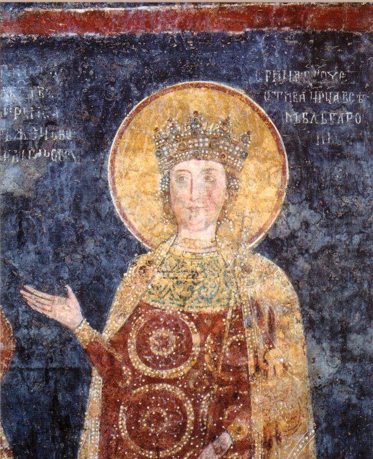 Tsar Constantine Assen Quiet and Tsaritsa Irina  - 1259 - Boyana Church - close-up large file