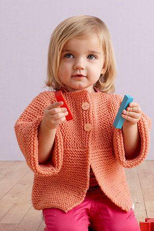 Free Knitting Pattern - Toddler & Children's Clothes: Fresh Melon Sideways Cardigan