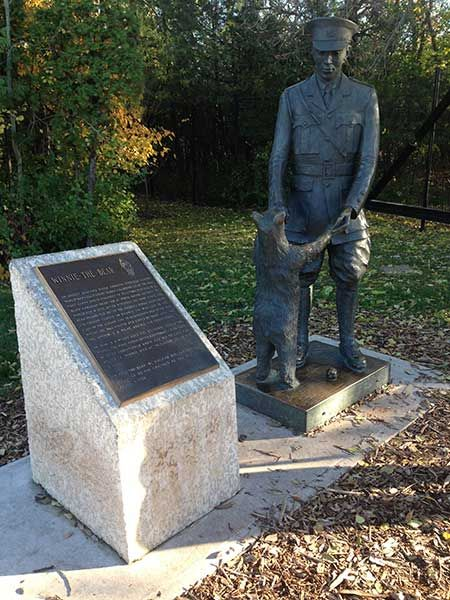 Historic Sites of Manitoba: Winnie-the-Bear Statue (Assiniboine Park, Winnipeg)