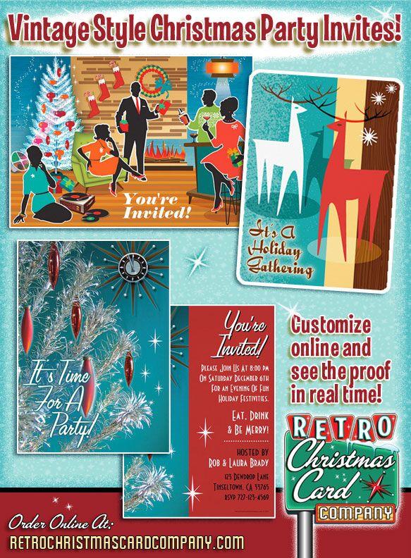 vintage christmas party invitations pv54 advancedmassagebysara
