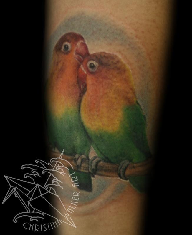 Lucky Bamboo Tattoo : Tattoos : Christina Walker : Lovebirds!